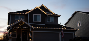 A house featuring a completed holiday light installation from Your Holiday Lights.